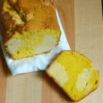 Mango and vanilla marble cake