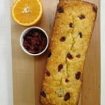 Orange and cranberry butter cake