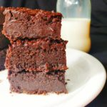 Eggless truffle brownies