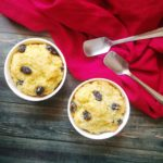 Rum and raisin bread pudding for two !