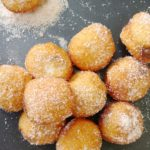 Nutella-filled cinnamon sugar doughnuts