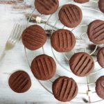 Chocolate fork biscuits